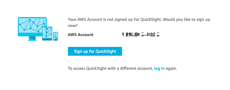 QuickSight Sign up Workflow Image